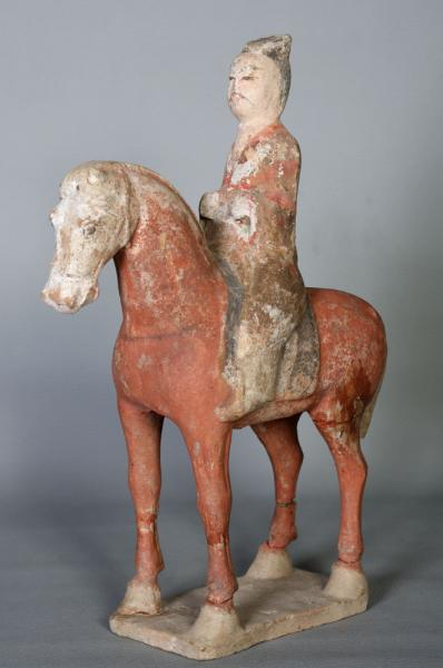 Cheval terre cuite Chinoise, époque TANG