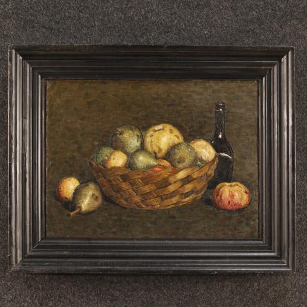 TablePeinture de nature morte hollandaise signée J. Carbaat datée 1924