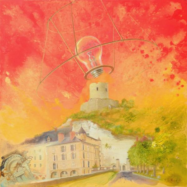 COP21, Château Roche-Guyon: Lampshades, global warming