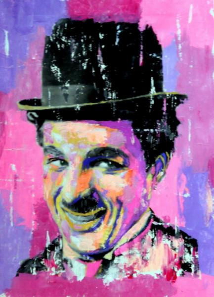 Charlie Chaplin Pop Art