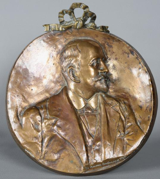 Very large bronze medal, 1908, signed