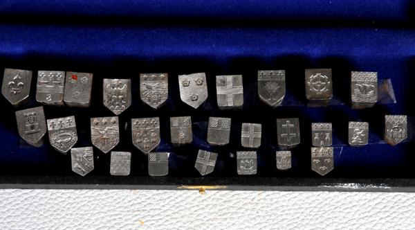 Series of hallmarks - blazons, 19th century