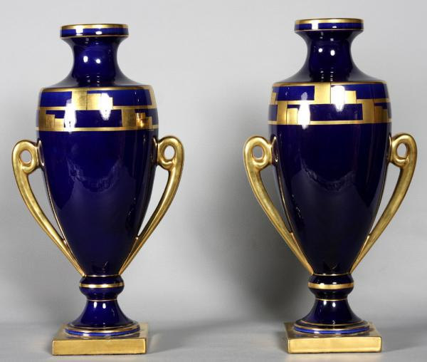 Pair of Art Deco vases 1925, signed: Pinon Maurice