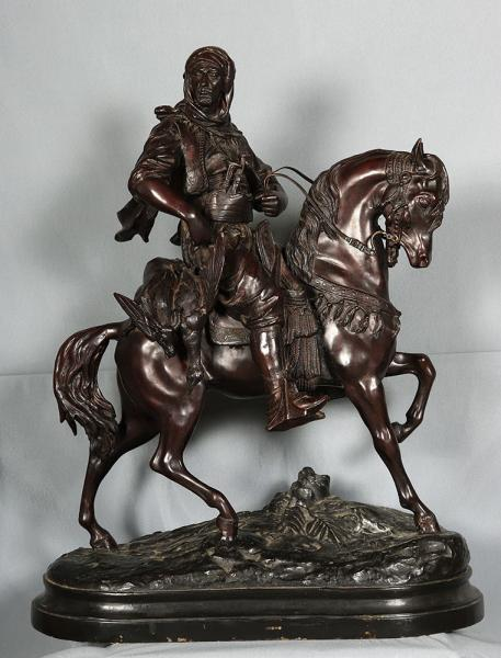 Great bronze orientalist of the 19th, signed: Barye Fils
