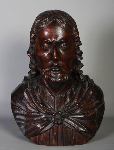 Large sculpture 17 th, on wood: Christ, 50 cm