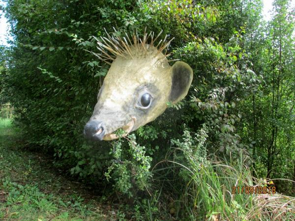 Hedgehog Sculptures on the Green Way of Montreuil-sur-Epte