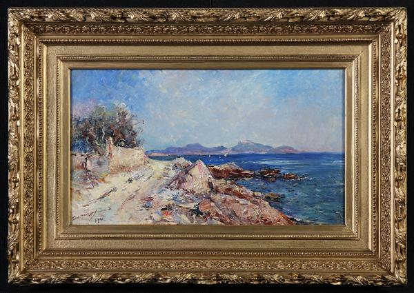 Emile NOIROT 1853/1934 - The bay of Tamaris, Côte d'Azur