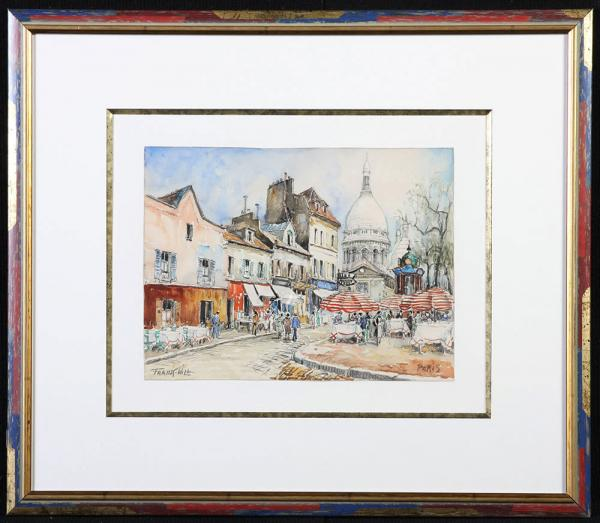 Frank Will  1900/1950 – Place du Tertre, Paris - aquarelle
