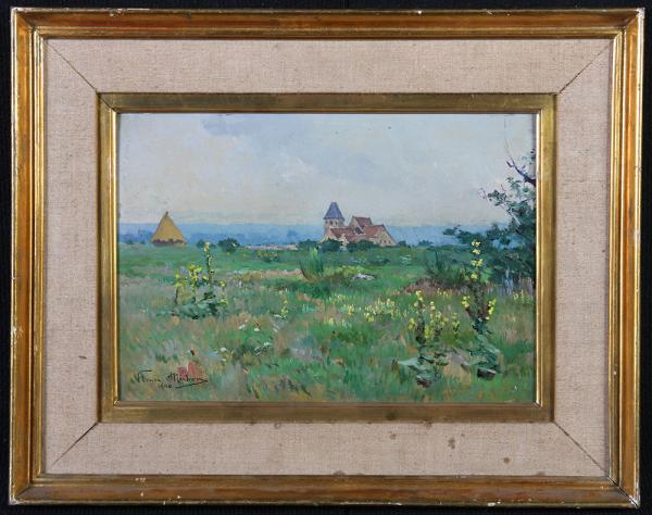 Country landscape, signed Henri Michon, dated 1900