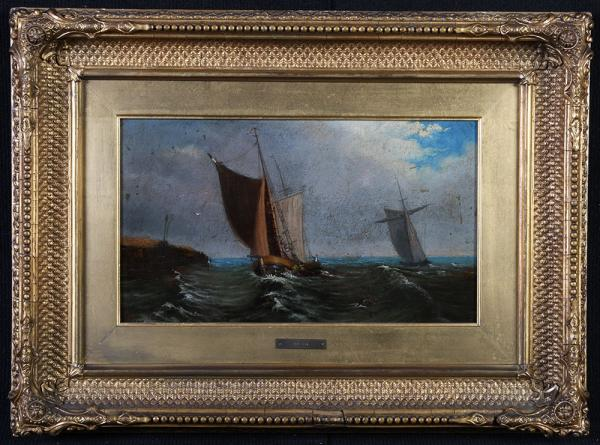 Marine XIX, William Wilson dated 1870, Scottish painter