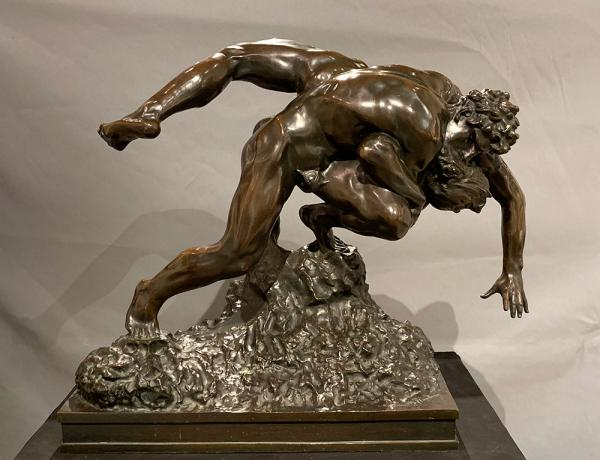 Bronze XIX, Jef Lambeaux 1852/1908, The wrestlers dated: 1895, 80cm