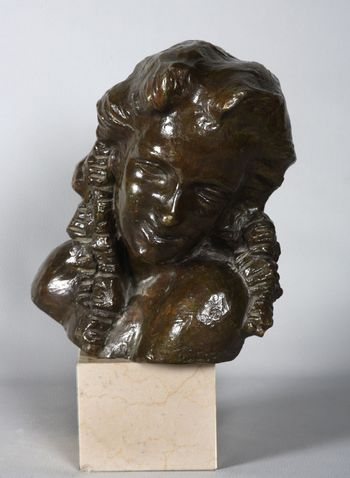 François STEENEBRUGGEN, Signed bronze and marble