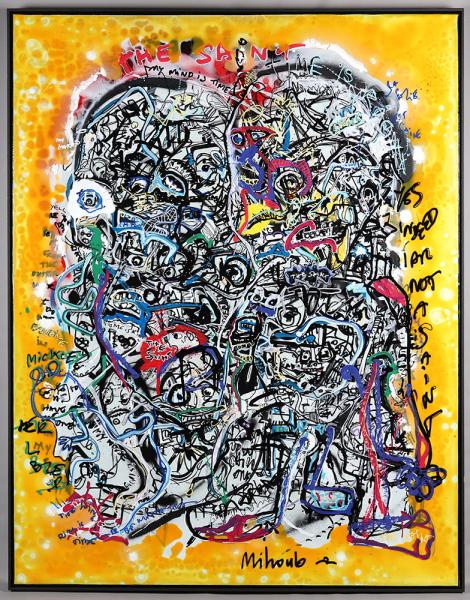"Mihoub, Art Brut, ""The Saint"", 150x116cm"