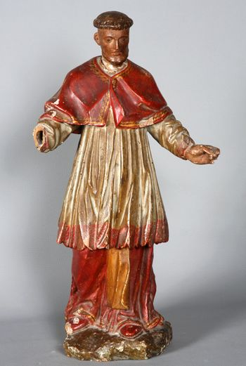 Saint Boniface, Spanish sculpture of the 18th century,