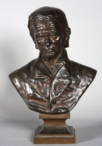 Bronze bust of Jean Mermoz, Art / Deco