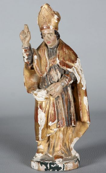 Polychrome Wood Sculpture of the 18th