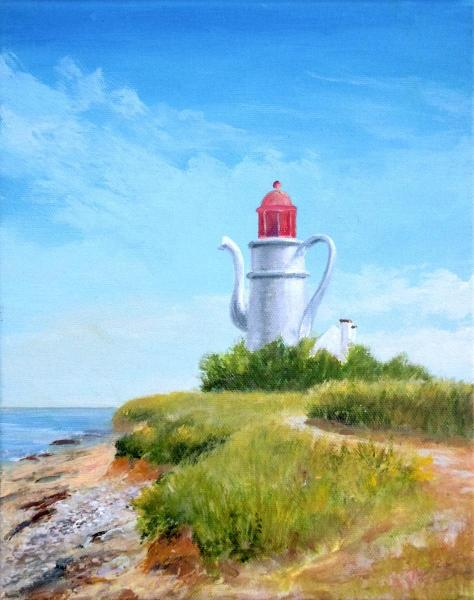 Drek Lighthouse at Chat Point, Locmaria, Groix Island