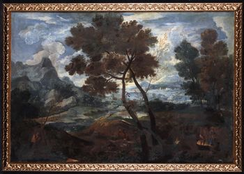 Circle of Andrea LOCATELLI 1695 / 1741- Animated landscape