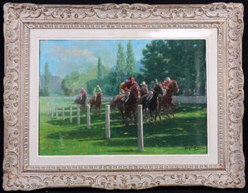 T. Garcies - Arrival at Longchamp