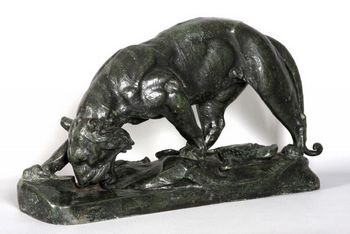 Bronze 19th, Leon BUREAU 1866/1906, 50 cm long