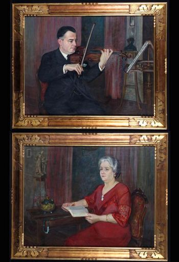 Flori ACKER 1858/1940 - The violinist and his wife