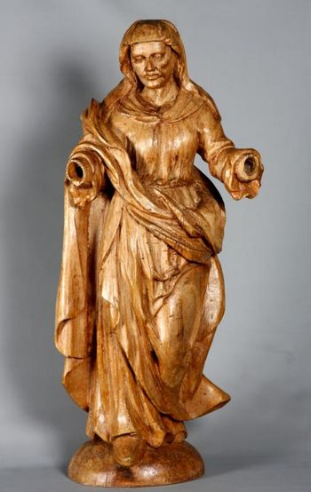 Wood Sculpture from the early 18th century, Saint Anne