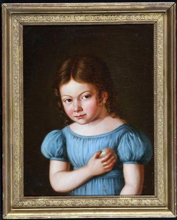 Portrait of Girl - French School of the 19th