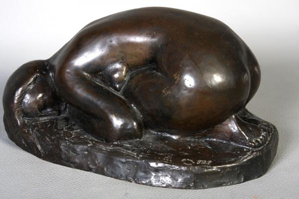 Bronze signed: Jean Augé (1924-2002), bronze lost wax