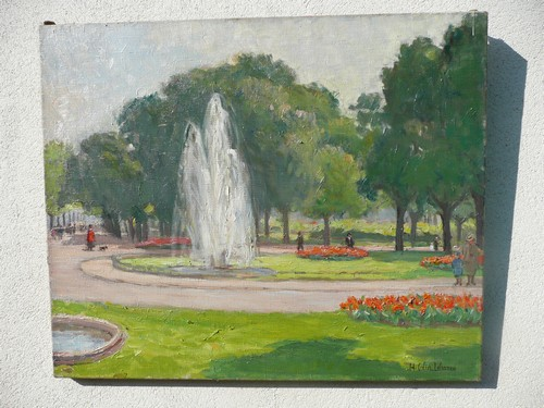 The Champs Elysees in Spring by H. COLIN-LEFRANCQ.
